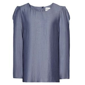 New Reiss Puff Gathered Shoulder Detail Top Size 4